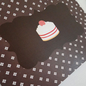 Chocolate Cupcake Postcard