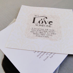 Love Quote Detail on Insert