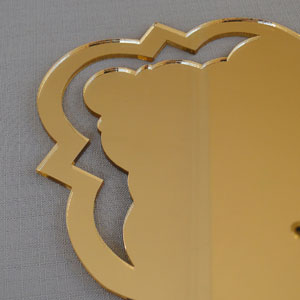 Laser cut Detail on Mirror Perspex