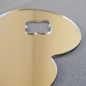 Silver Mirror Platter Detail