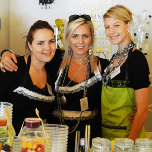 Karla Oettler and the girls from Absolute Delish