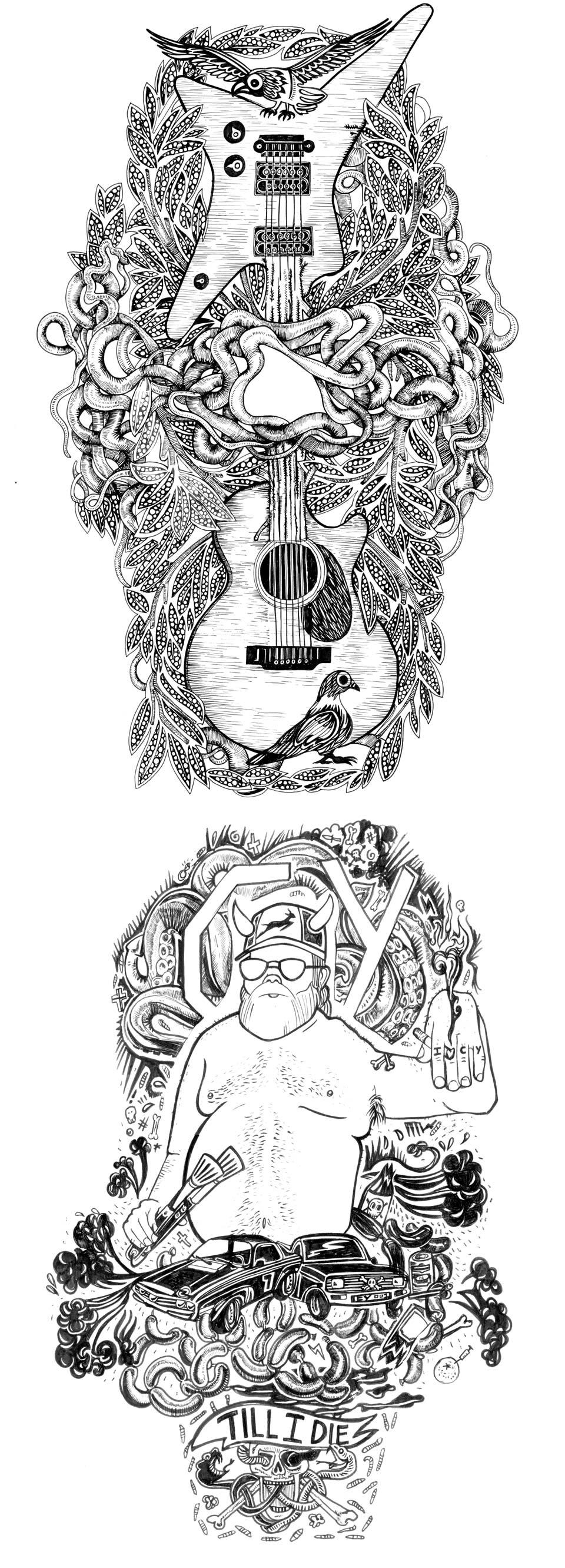 Black-&-White-Illustration