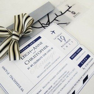 Wedding Invitation Travel Theme