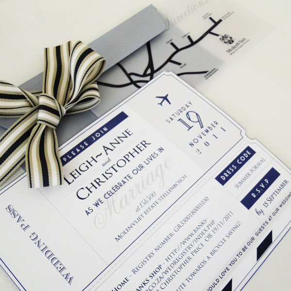Your Wedding Invitation naturally sets the tone for the look and feel of