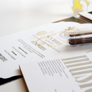 Close up of Wedding Invitation
