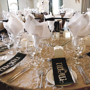 Charming White And Gold Table Setting