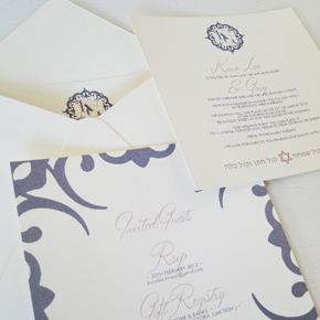 Canvas Paper Wedding Invitation