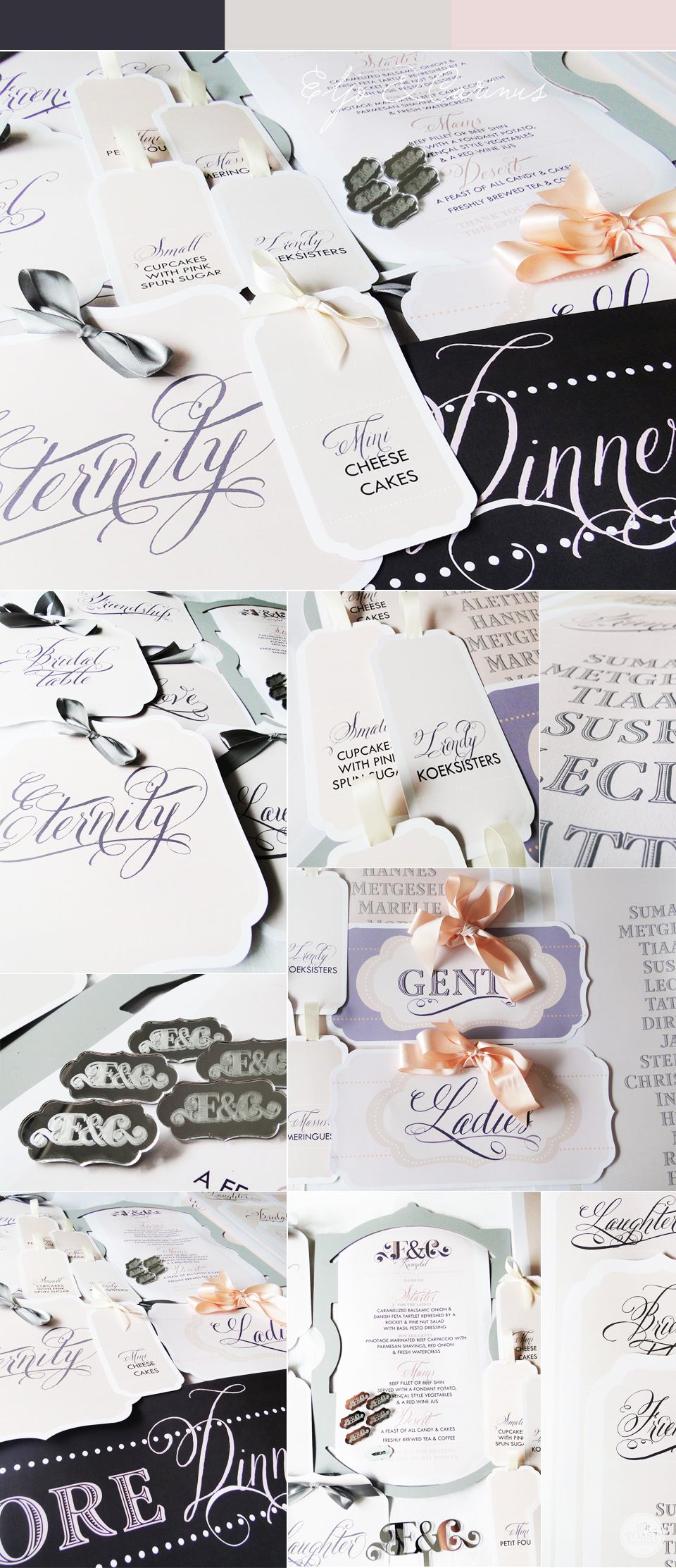 Nude & Charcoal Stationery