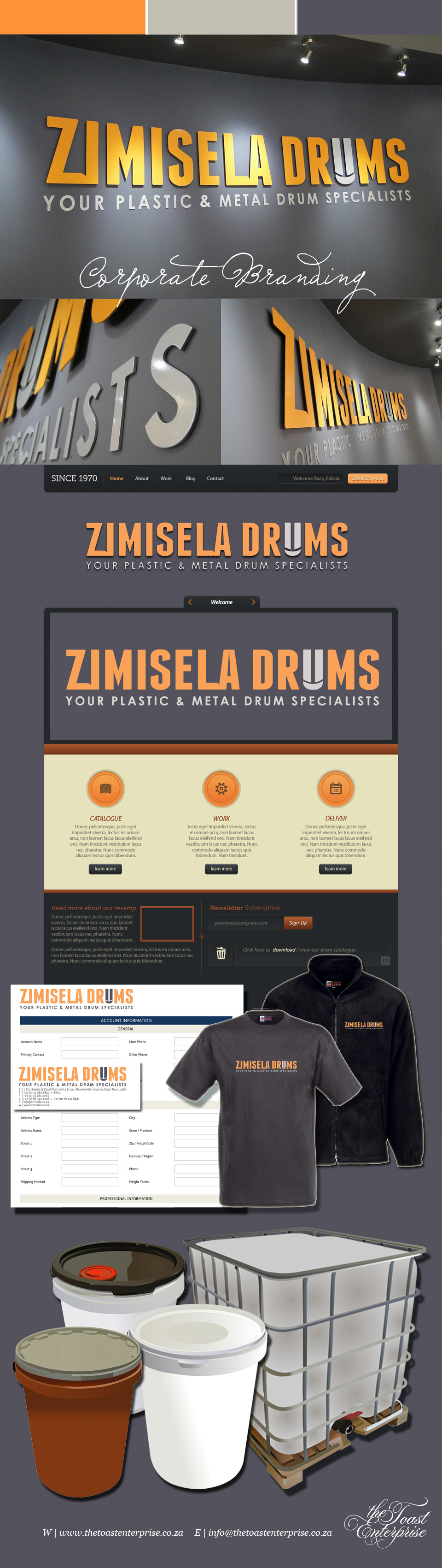 Zimisela Drums Corporate Identity & Signage