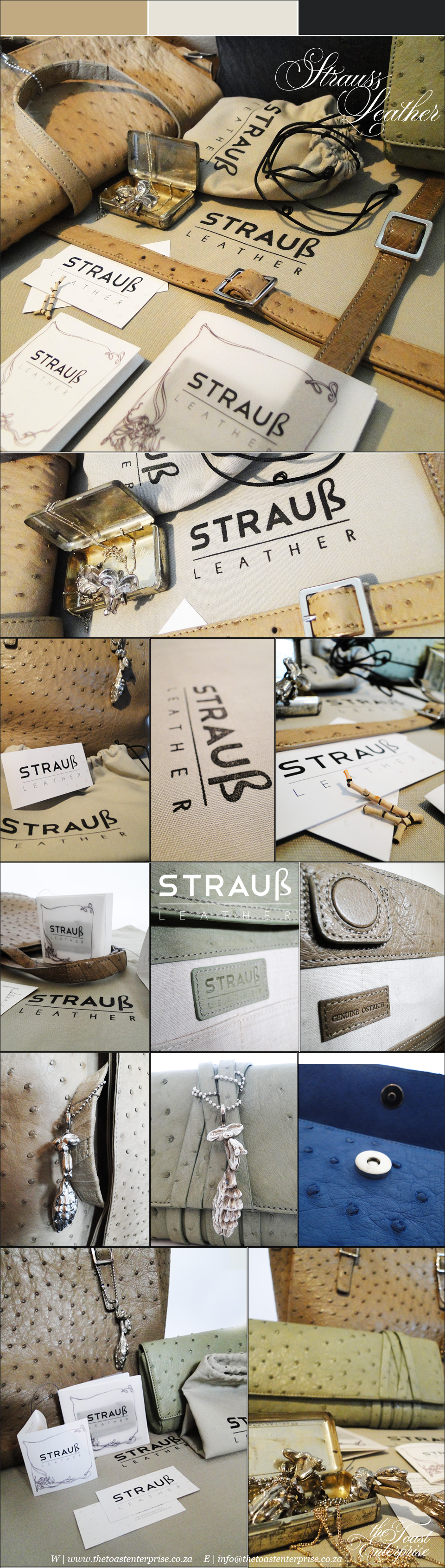 Strauss Leather Corporate Identity by The Toast Enterprise
