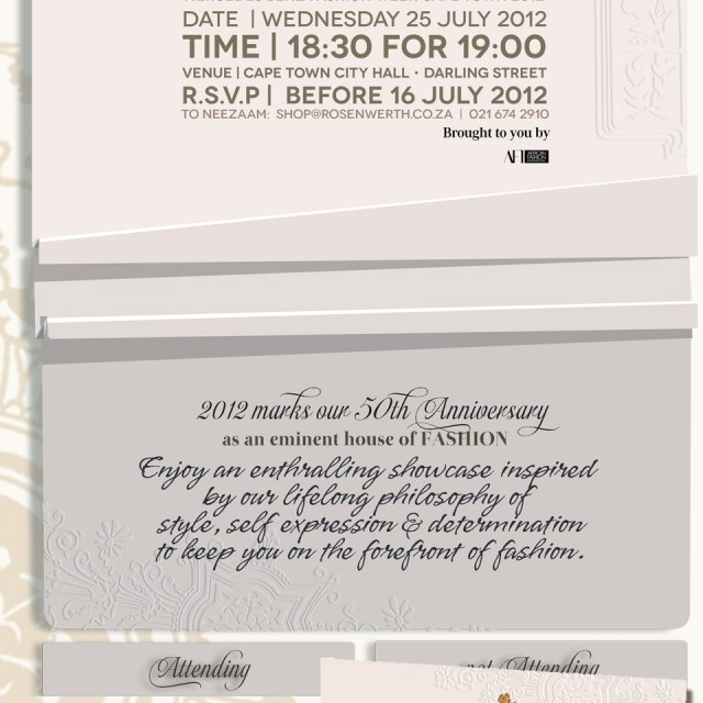 Cape Town Fashion Week Invitations